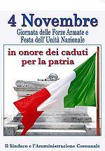 4 novembre festa dell' Unità d'Italia e delle Forze Armate